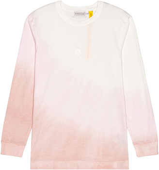 MONCLER GENIUS Moncler Alyx Recycled Cotton Long Sleeve Tee in Pink & White   FWRD