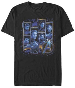 Marvel Men's Avengers Endgame Box Up Portraits, Short Sleeve T-shirt