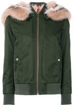 Mr & Mrs Italy fur lining bomber jacket