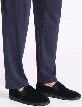Marks and Spencer Big & Tall Corduroy Slippers with Freshfeet