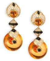Marina B Pneu Diamond, Citrine, Black Jade & 18K Yellow Gold Drop Earrings