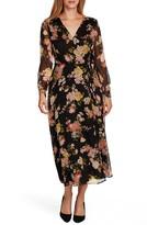 Vince Camuto Beautiful Blooms Long Sleeve Chiffon Dress