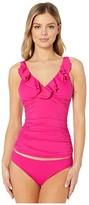 Lauren Ralph Lauren Beach Club Solids Ruffle U/W Tankini (Orchid) Women's Swimwear