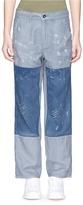 Denham Jeans 'Bonnie' patchwork linen-cotton pants