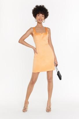 Nasty Gal Womens It'S Satin-Ing Fitted Mini Dress - Orange - 10, Orange