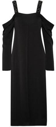 Elizabeth and James Fynn Cold-shoulder Embellished Crepe De Chine Midi Dress