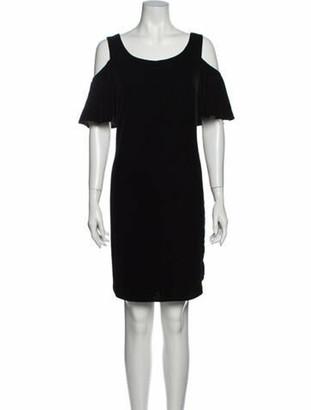 Ralph Lauren Scoop Neck Knee-Length Dress w/ Tags Black