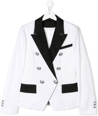 Balmain Kids double buttoned suit jacket