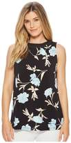 Ellen Tracy Sleeveless Top With Smocking Women's Sleeveless