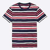 J.Crew Factory J.Crew Mercantile Broken-in multi stripe T-shirt