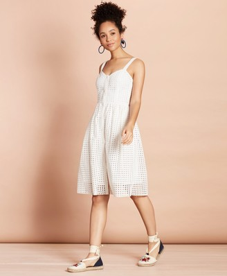 Brooks Brothers Cotton-Blend Eyelet Dress