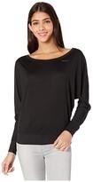 For Better Not Worse FOR BETTER NOT WORSE Best Thinks Long Sleeve Dolman Top (Black) Women's T Shirt