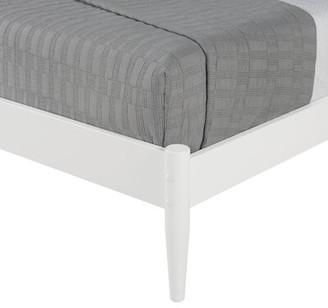 FoundstoneTM Grady Solid Wood Platform Bed Foundstone Color: Scandinavian Oak, Size: Queen
