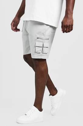 BoohoomanBoohooMAN Mens Big & Tall Utility Shorts With Elasticated Waist Band,