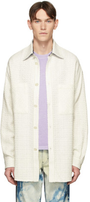 Faith Connexion White Tweed Over Shirt