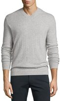 Theory Donners Cashmere Crewneck Sweater, Heather Gray
