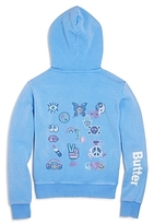 Butter Shoes Girls' Embellished Peace Patch Hoodie - Little Kid