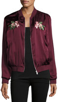 Romeo & Juliet Couture Floral-Embroidered Bomber Jacket