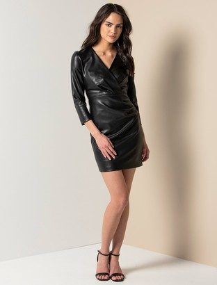 Ever New Tabitha Faux Leather Mini Dress