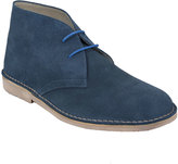 Yours Clothing Blue SUEDE Desert Boot In Wide Fit