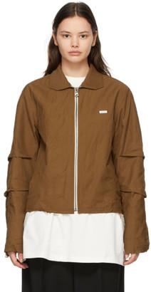 Ader Error Brown Crinkled Track Jacket