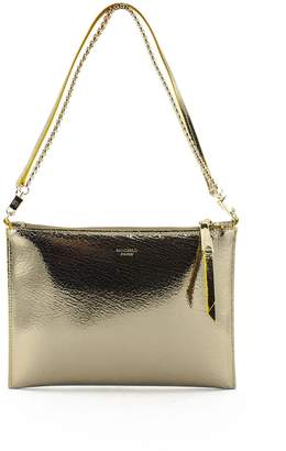 Rochas Gold-tone Mirror Leather Clutch