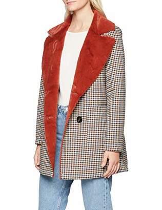 Rich & Royal rich&royal Women's Double face Check Fur Coat