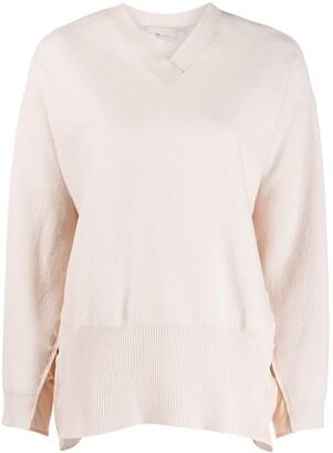 Stella McCartney ruched sides V-neck sweater