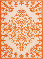 Nourison Scroll Indoor/Outdoor Rectangular Rug