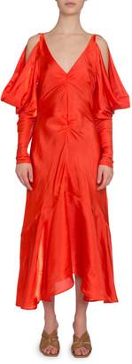 REJINA PYO Camille Open-Shoulder Flared Midi Dress