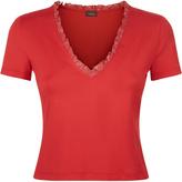 Essentials Bi-Stretch Cotton V-Neck Crop T-Shirt