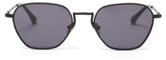 Linda Farrow X Alessandra Rich Hexagonal Metal Sunglasses - Womens - Black