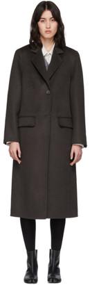 Maison Margiela Brown Cashgora Coat