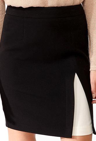 Forever 21 Contrast Inset Skirt