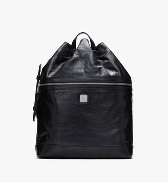 MCM Klassik Drawstring Backpack in Crushed Leather
