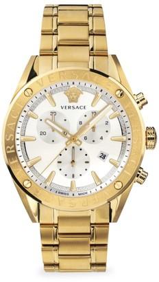 Versace V-Chrono IP Yellow Gold Bracelet Strap Watch