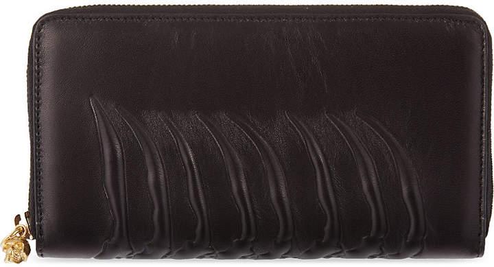 Alexander McQueen Ribcage zip-around wallet