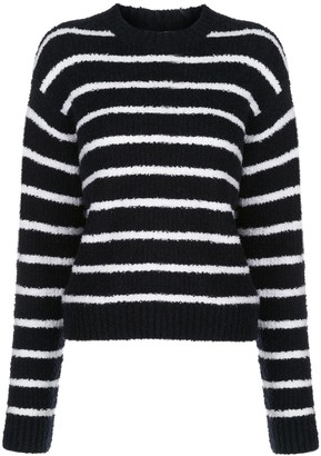 Vince Striped Boucle Relaxed-Fit Jumper
