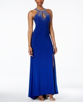 Night Way Nightway Nightway Petite Embellished Halter Gown