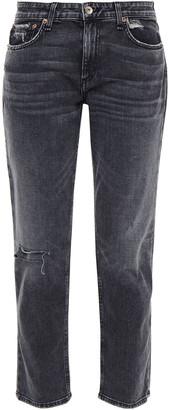 Rag & Bone Cropped Distressed Boyfriend Jeans
