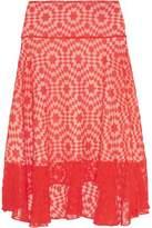 Preen by Thornton Bregazzi Amila Devoré Cotton-Georgette Skirt