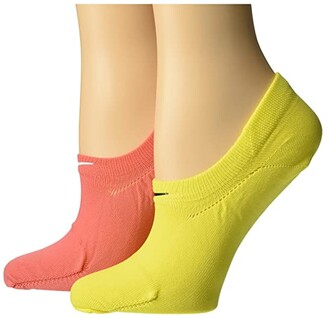 Nike No Show Socks 2-Pair Pack (Multicolor) Women's Low Cut Socks Shoes