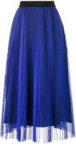 MSGM pleated midi skirt - women - Polyester - 38