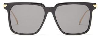 Bottega Veneta Square Acetate Sunglasses - Black