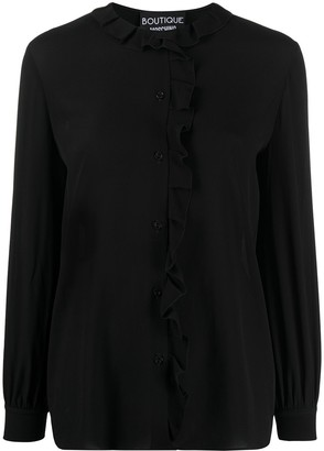 Moschino Long-Sleeved Ruffled-Neck Blouse