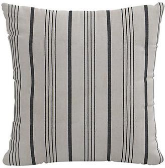 One Kings Lane Graphite Stripe Pillow - Gray/White