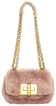 Tom Ford Blush Pink Faux Fur Natalia Shoulder Bag