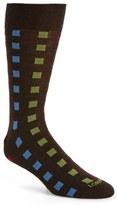 Lorenzo Uomo Men's Square Merino Wool Blend Socks