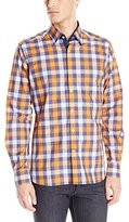 Stone Rose Men's Melange Check Long Sleeve Button Down Shirt