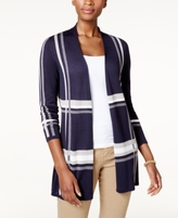 Charter Club Petite Plaid Open-Front Cardigan, Created for Macy's